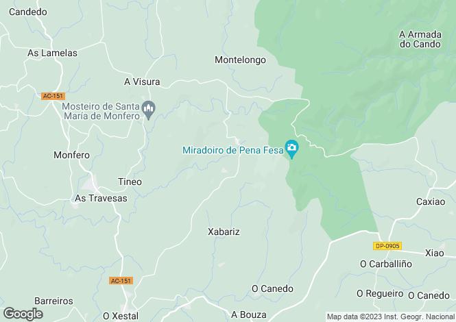 Map for Galicia, A Coruña, Monfero