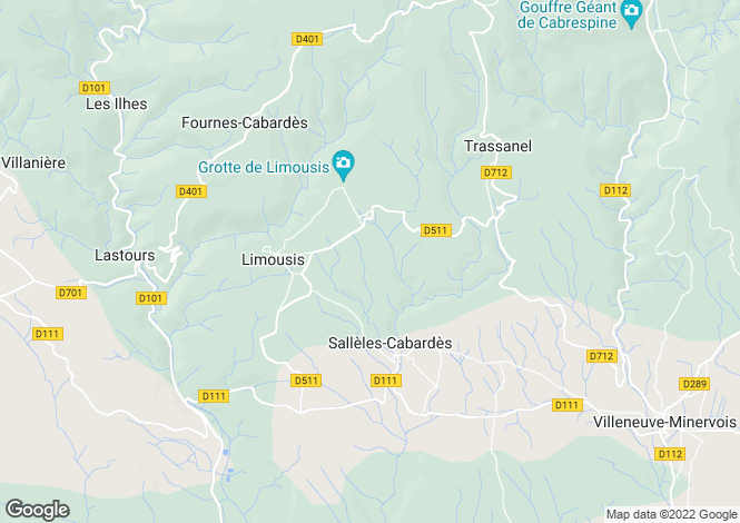 Map for Languedoc-Roussillon, Aude, Limousis