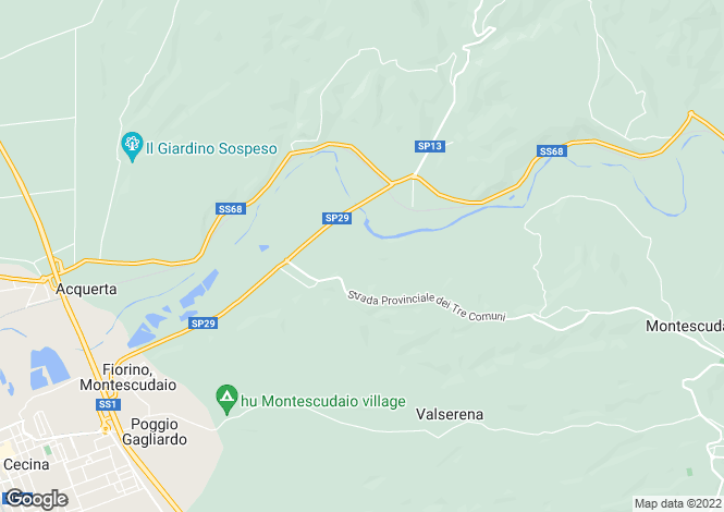 Map for Cecina, Livorno, Tuscany