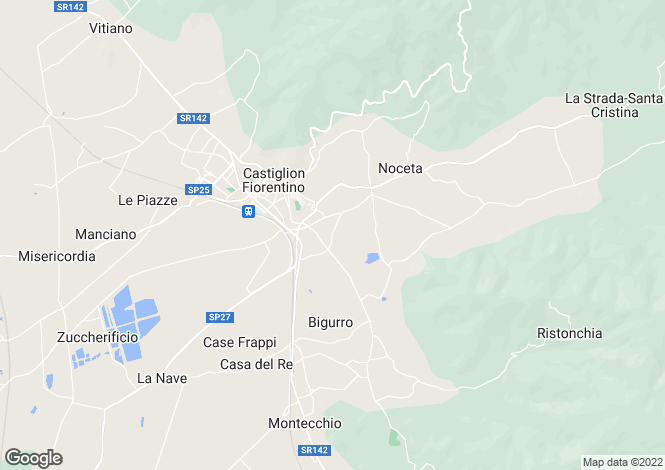 Map for Italy - Tuscany, Arezzo, Castiglion Fiorentino