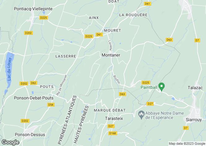 Map for Montaner, Pyrénées-Atlantiques, Aquitaine