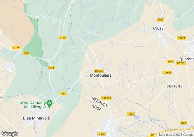 Map for Languedoc-Roussillon, Hérault, Montouliers