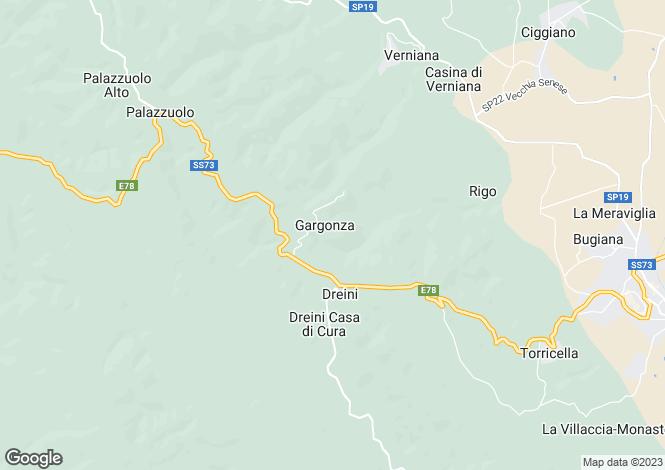 Map for Monte San Savino, Arezzo, Italy