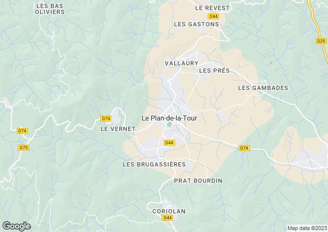 Map for Provence-Alps-Cote d`Azur, Var, Le Plan-de-la-Tour