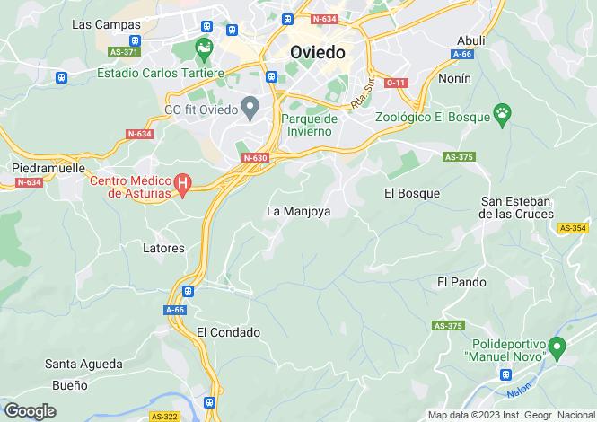 Map for Oviedo, Asturias, Spain