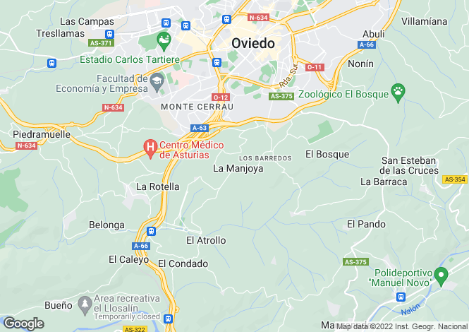 Map for La Manjoya, Asturias, Spain