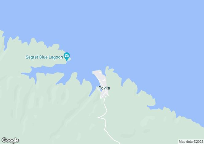 Map for Povlja, Brac Island, Split-Dalmatia