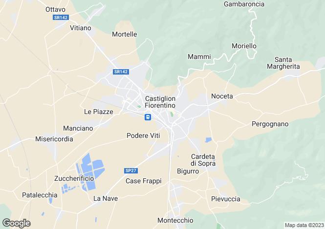 Map for Tuscany, Arezzo, Castiglion Fiorentino