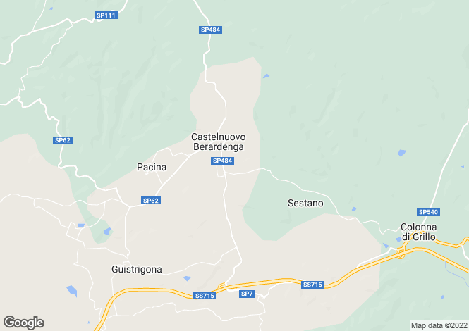 Map for Castelnuovo Berardenga, Siena, Tuscany