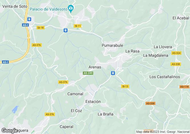 Map for Arenas, Asturias, Spain
