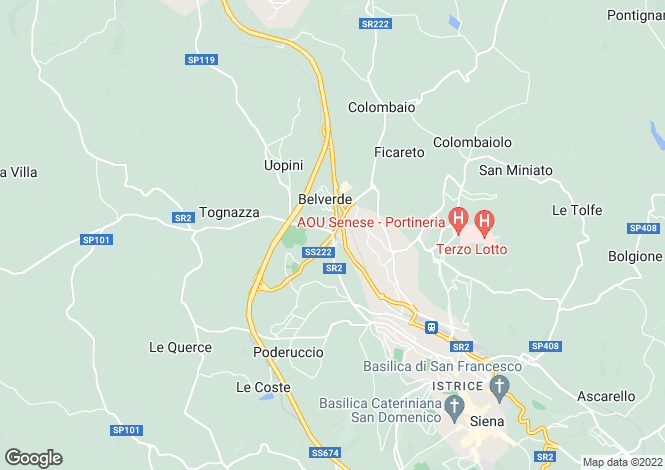 Map for Siena, Siena, Italy