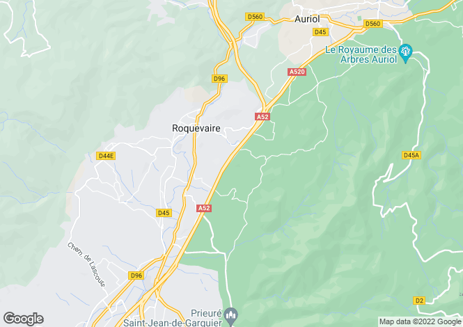 Map for ROQUEVAIRE, Marseille Area, Provence - Var,