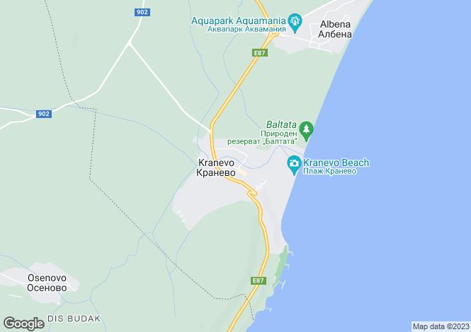 Map for Kranevo, Dobrich