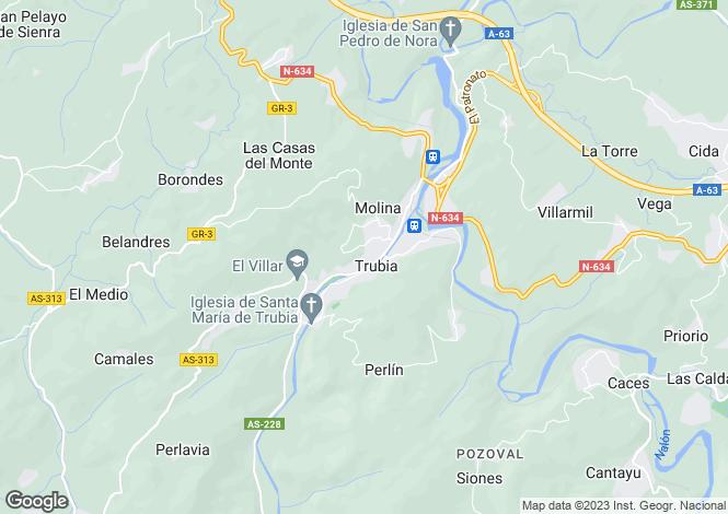 Map for Trubia, Oviedo, Asturias