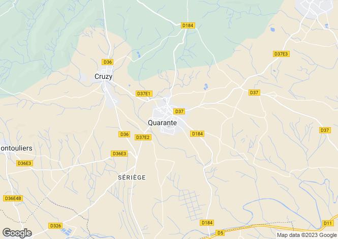 Map for Quarante, Hérault, Languedoc-Roussillon