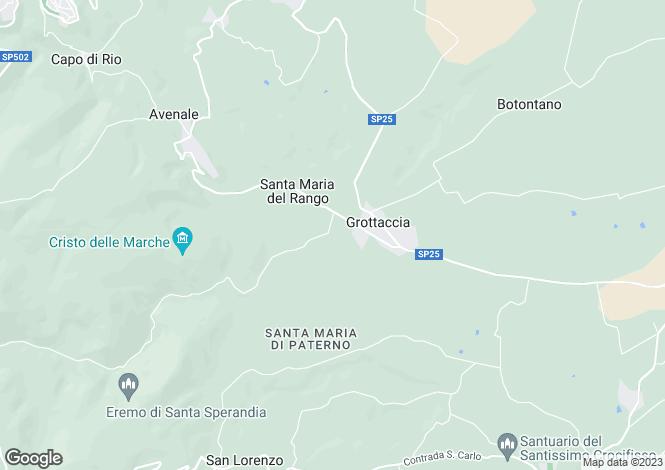 Map for Cingoli, Macerata, Le Marche