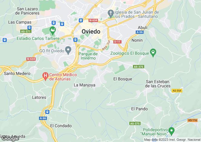Map for La Manjoya, Asturias, Spain