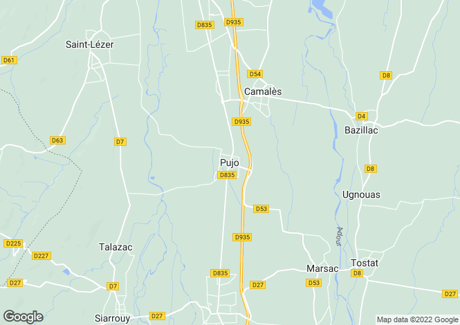 Map for Pujo, Midi-Pyrenees, 65500, France