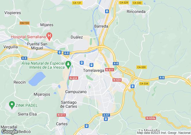 Map for Torrelavega, Santander, Cantabria