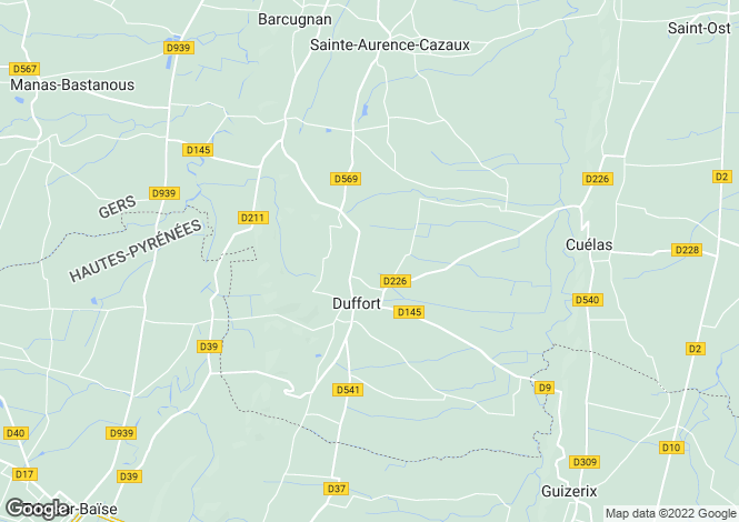 Map for duffort, Gers, France