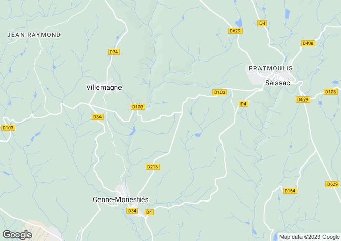 Map for villemagne, Hérault, France
