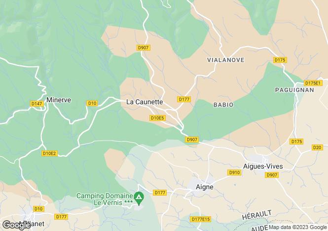 Map for La Caunette, Hérault, Languedoc-Roussillon