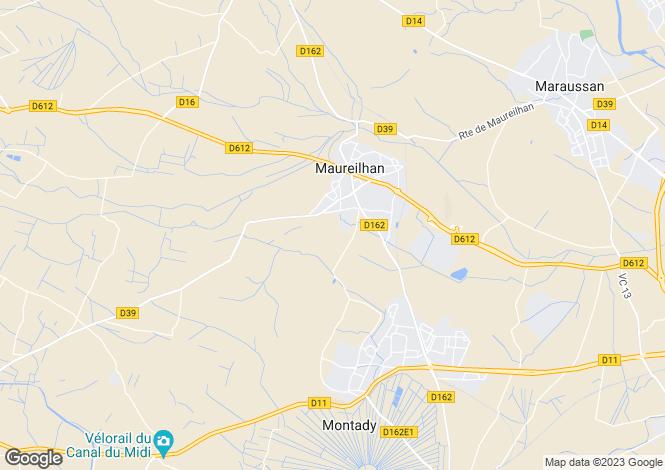 Map for maureilhan, Hérault, France