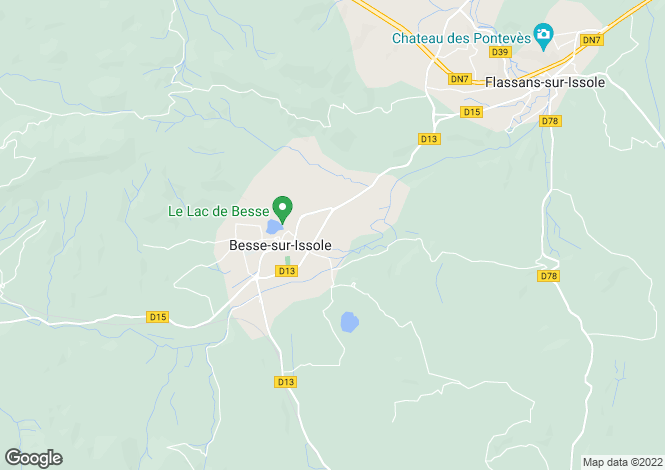 Map for Provence-Alps-Cote d`Azur, Var, Besse-sur-Issole