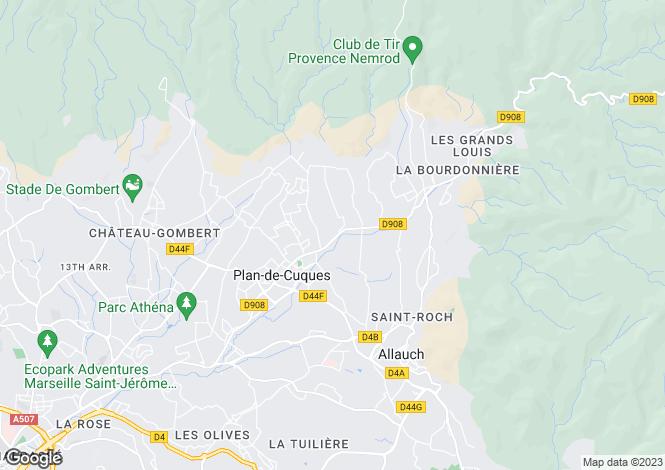 Map for PLAN DE CUQUES, Marseille & Cote Bleu, Provence - Var,