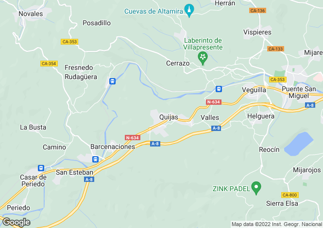 Map for Puente de San Miguel, Santander, Cantabria