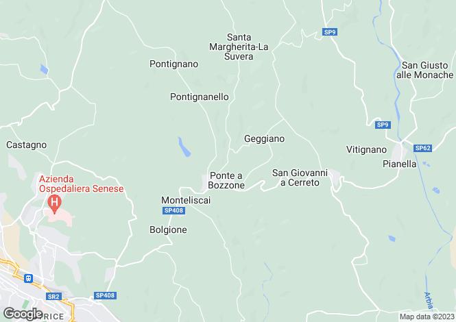 Map for Tuscany, Siena, Castelnuovo Berardenga