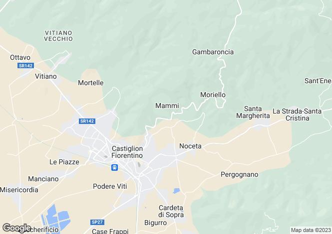 Map for Castiglion Fiorentino, Arezzo, Tuscany