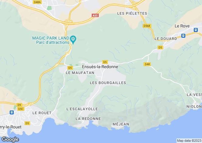 Map for Provence-Alps-Cote d`Azur, Bouches-du-Rhône, Carry-le-Rouet