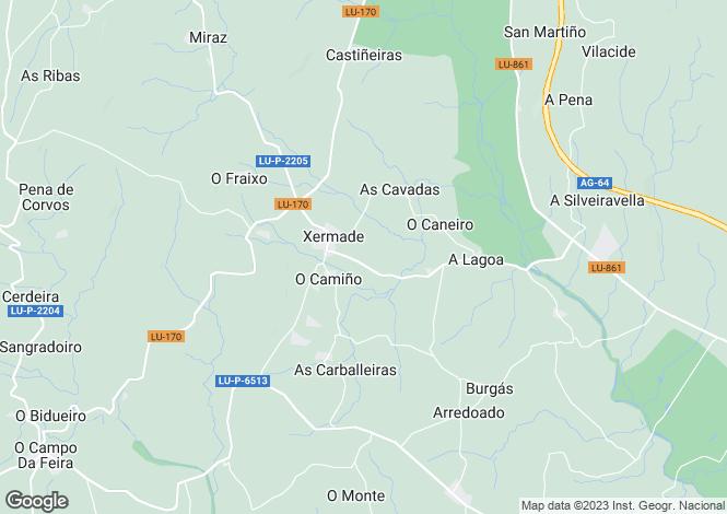 Map for Xermade, Lugo, Galicia