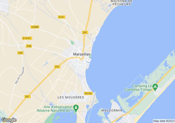 Map for Marseillan, Hérault, Languedoc-Roussillon