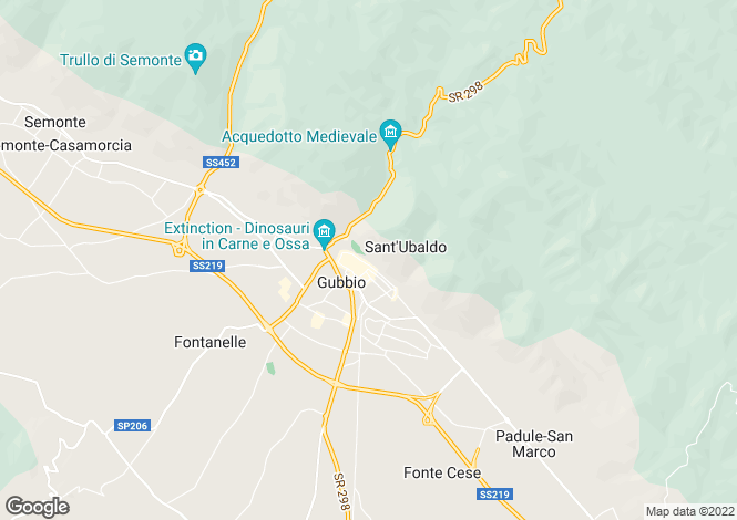 Map for Umbria, Perugia, Gubbio