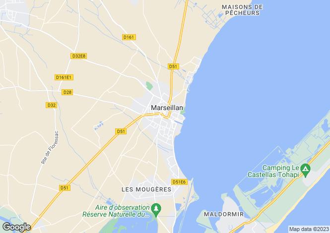 Map for Waterfront Villa, Promenade de La Corniche, La Baraquette, Marseillan