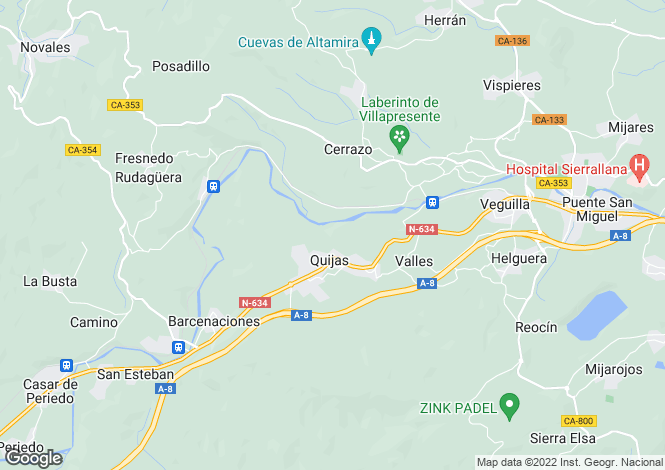 Map for Reocin, Santander, Cantabria