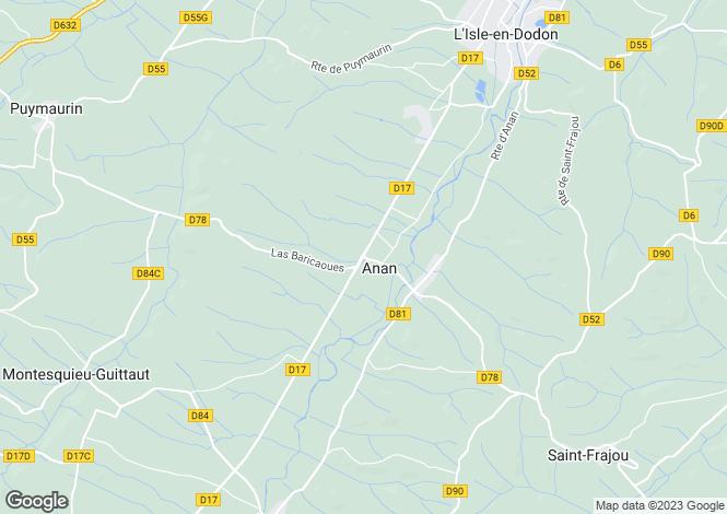 Map for anan, Haute-Garonne, France