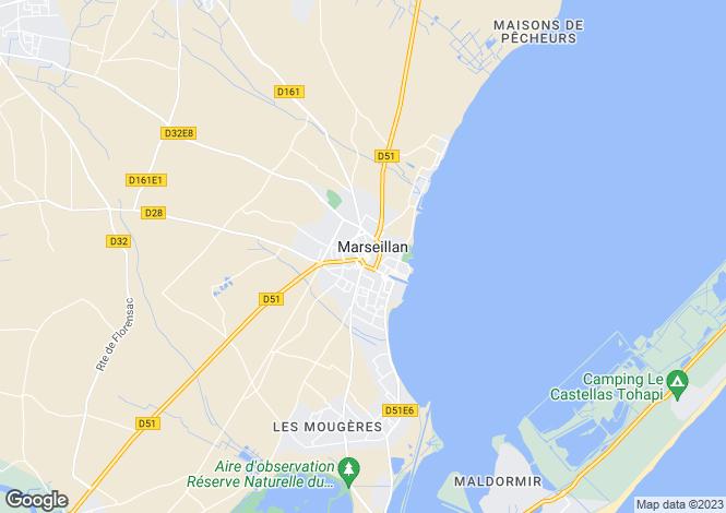 Map for Marseillan, Herault