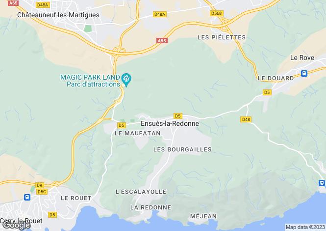 Map for ENSUES LA REDONNE, Marseille Area, Provence - Var,