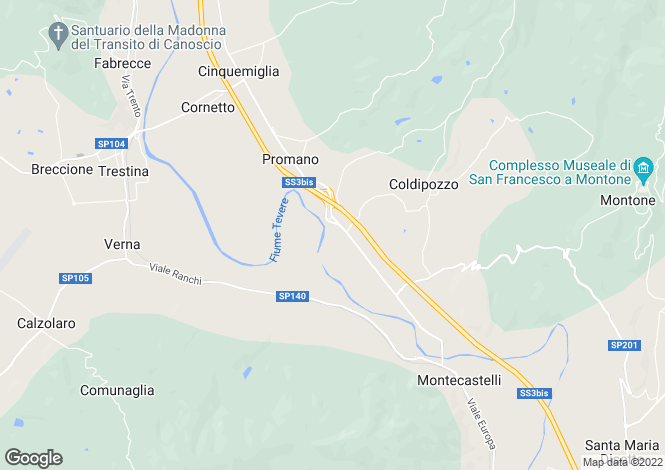 Map for Umbertide, Perugia, Umbria