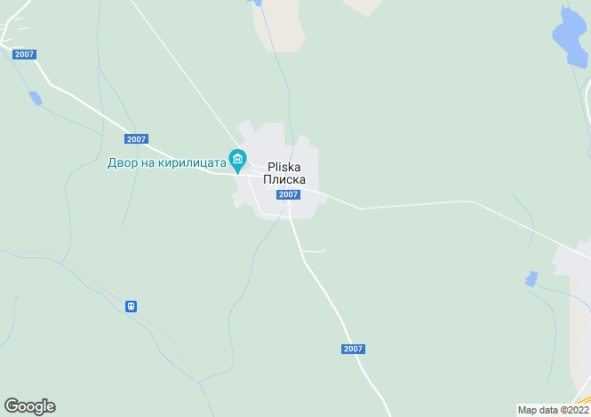 Map for Pliska, Shumen