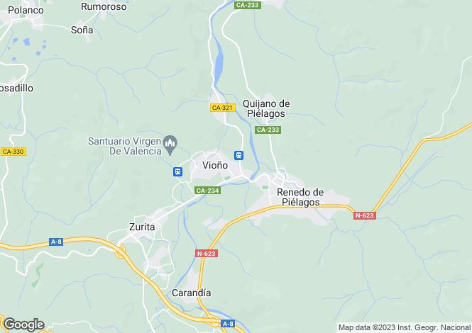 Map for Renedo, Santander, Cantabria
