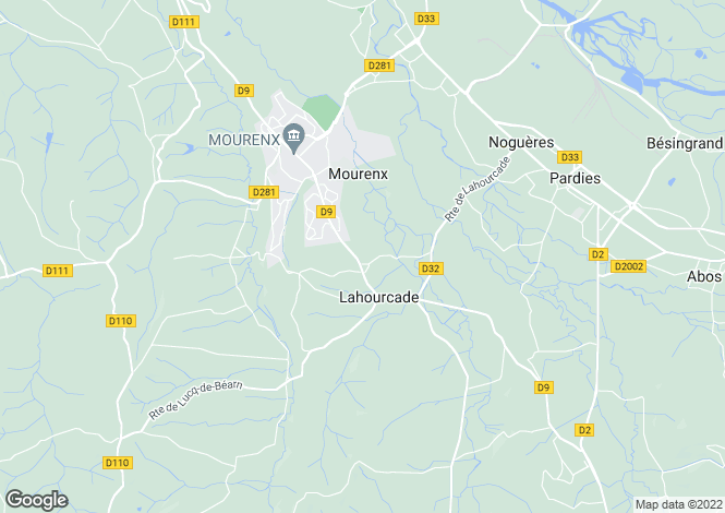 Map for mourenx, Pyrénées-Atlantiques, France