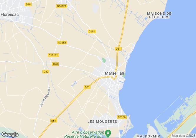 Map for Seafront Vineyard Estate, Marseillan, Languedoc