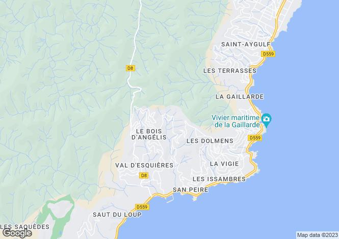 Map for Les Issambres, Var, Provence-Alps-Cote d`Azur
