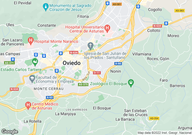 Map for Oviedo, Oviedo, Asturias