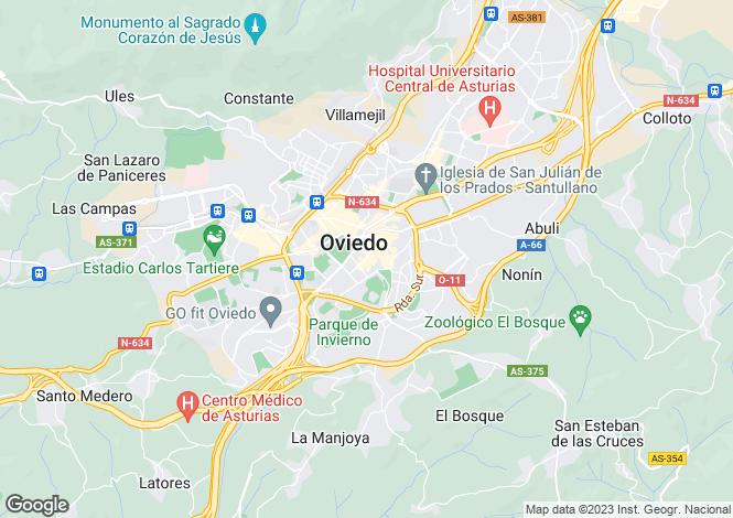 Map for Asturias, Oviedo, Oviedo