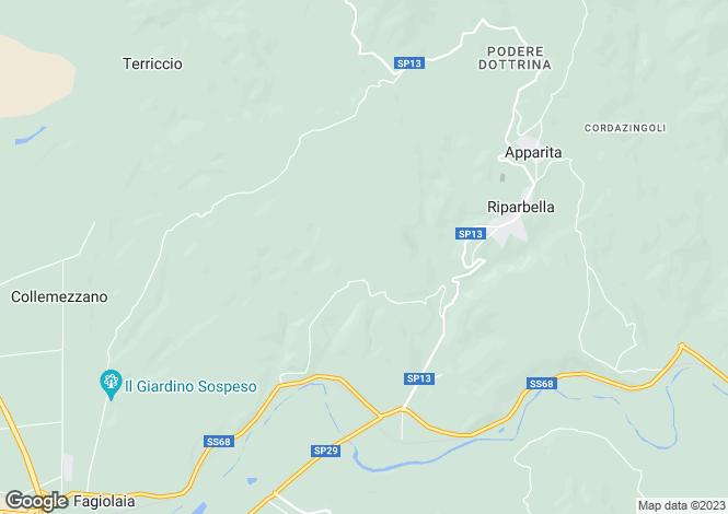 Map for Tuscany, Pisa, Riparbella